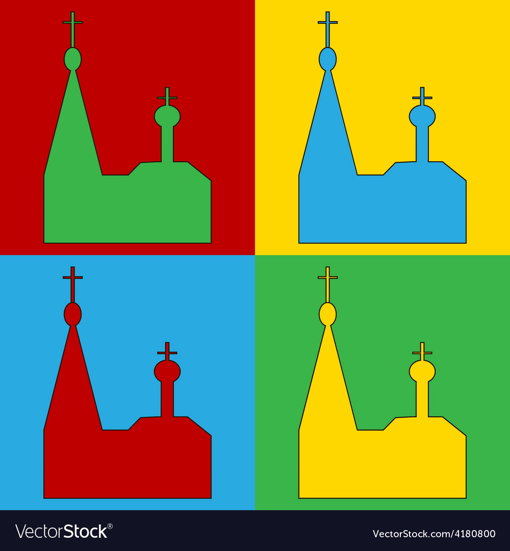 Pop art orthodox church icons
