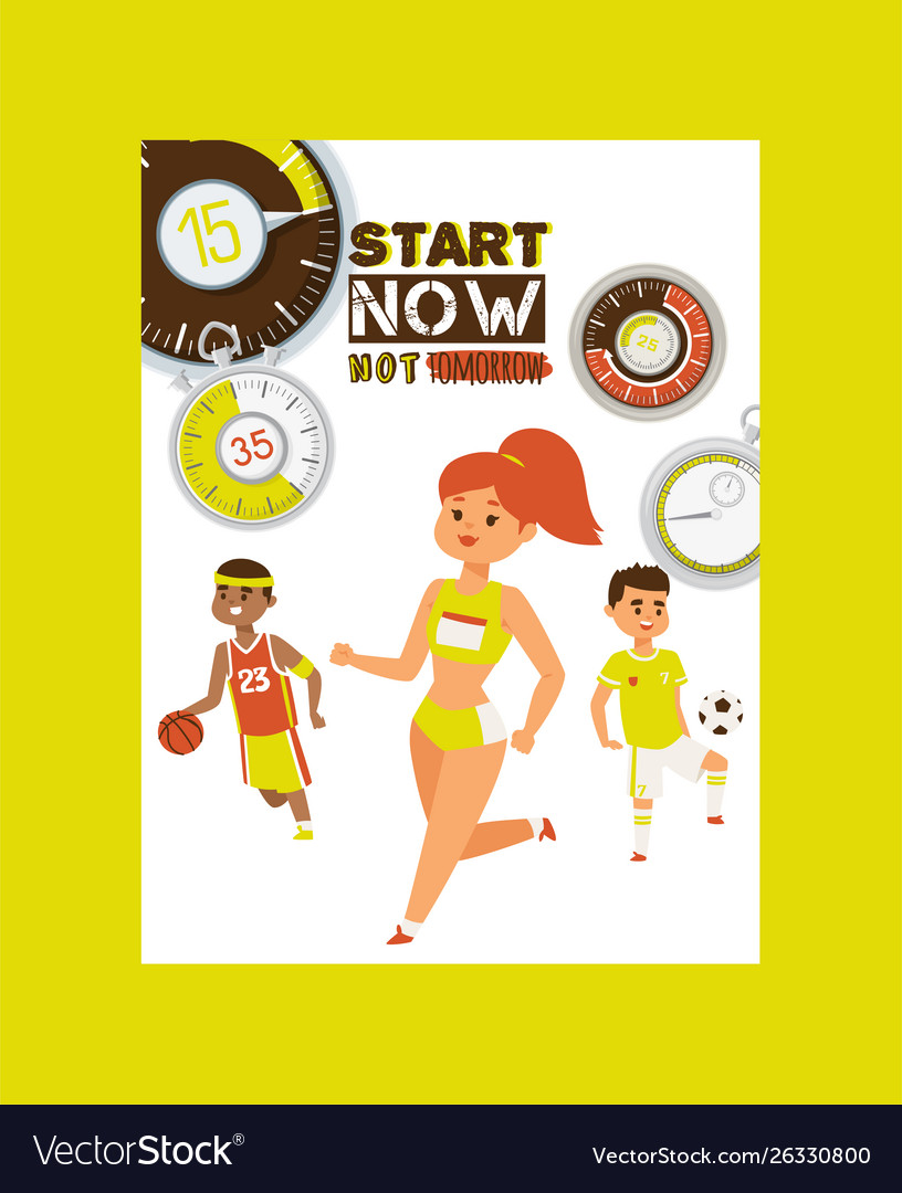 Timer concept poster start