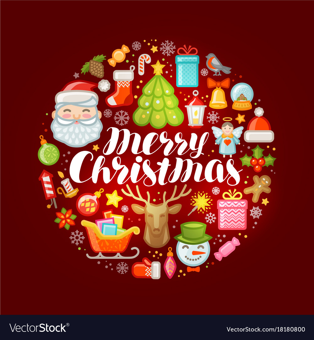 Xmas concept merry christmas greeting card or Vector Image