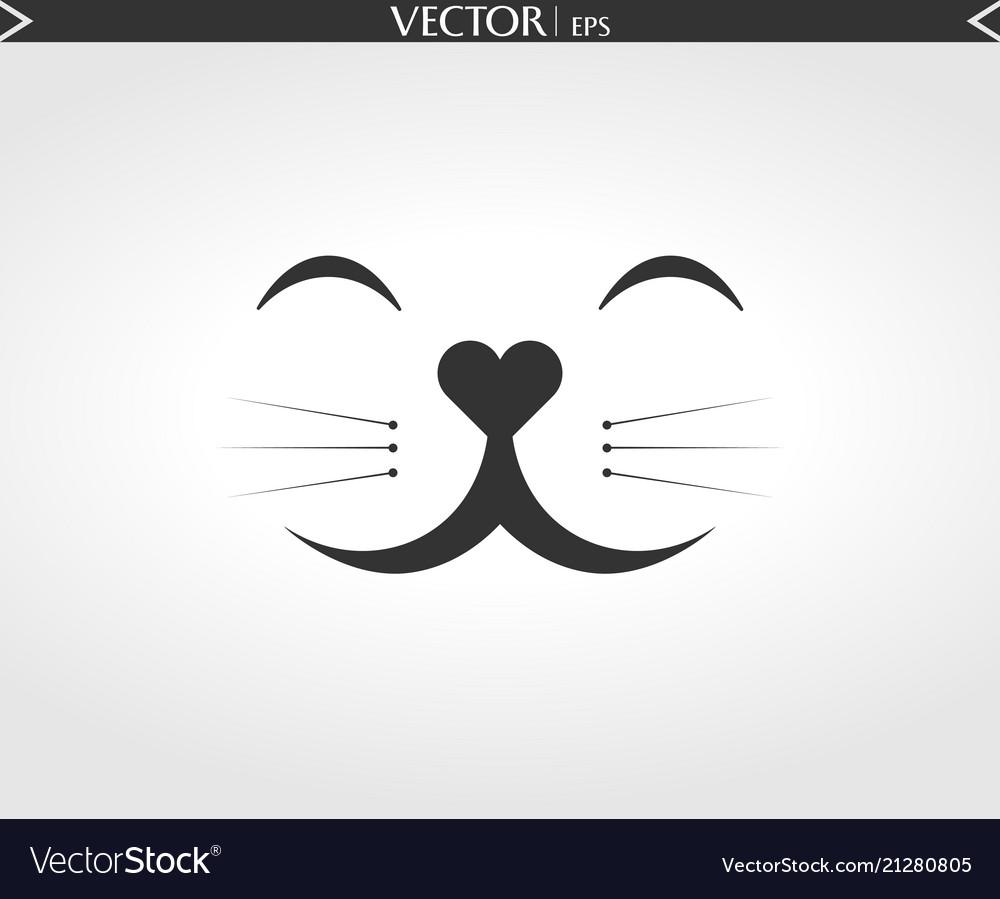Cat smile face