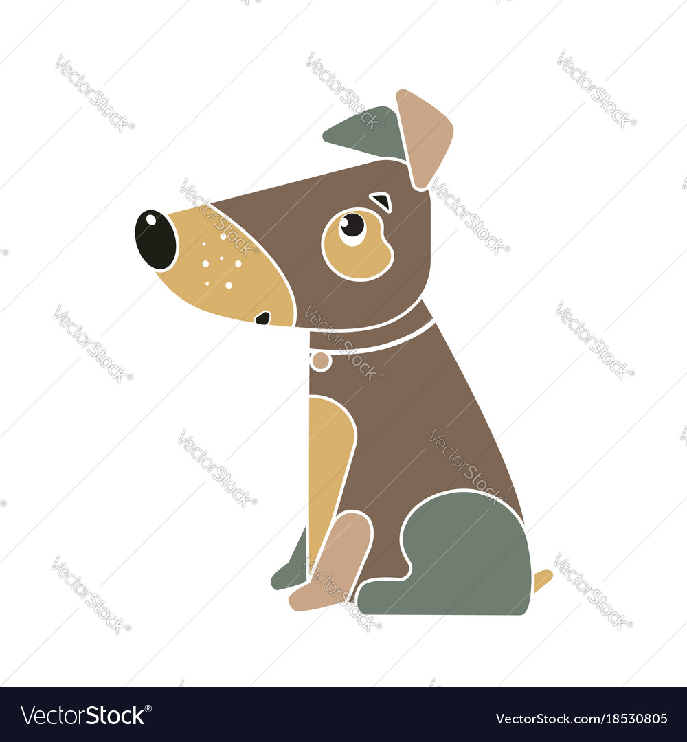 Funny Dog Symbol Of The Chinese New Year 2018 Vector Image