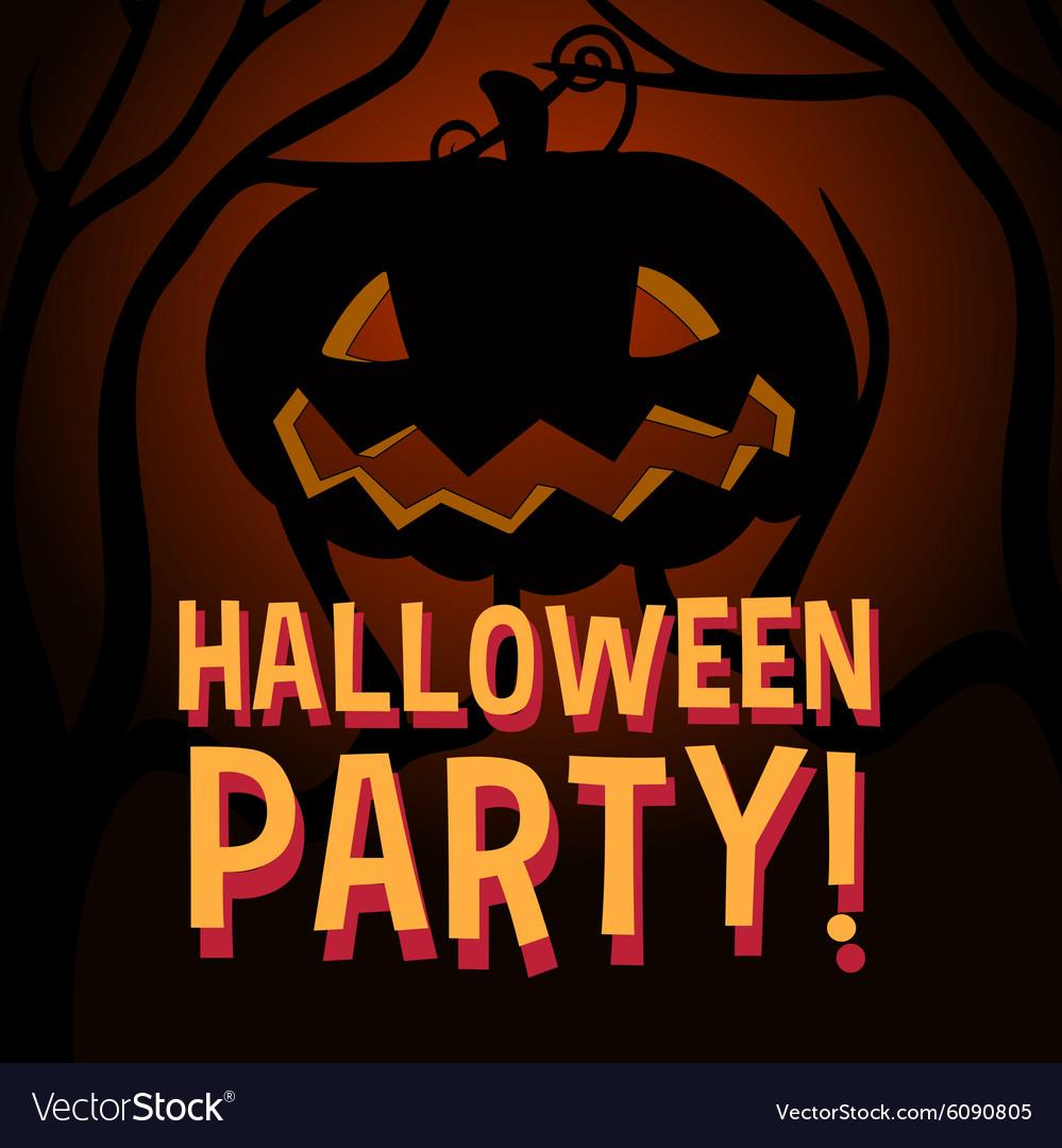 Halloween theme with pumpkin