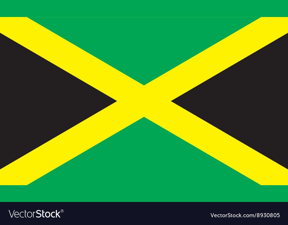 Jamaica flag image vector image
