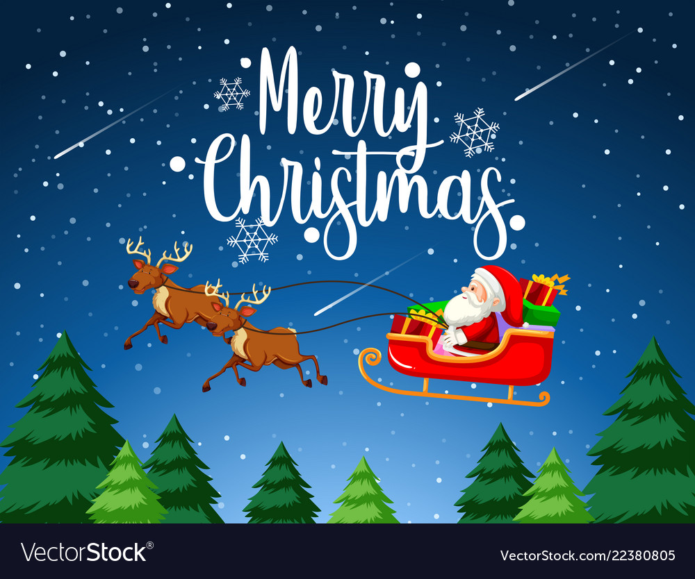 Free Merry Christmas Images.Merry Christmas Santa Sleigh