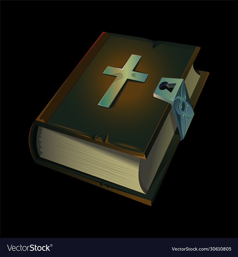 Old holy bible book icon