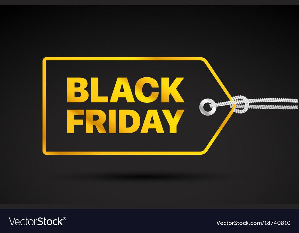 Black friday golden label black friday sale tag