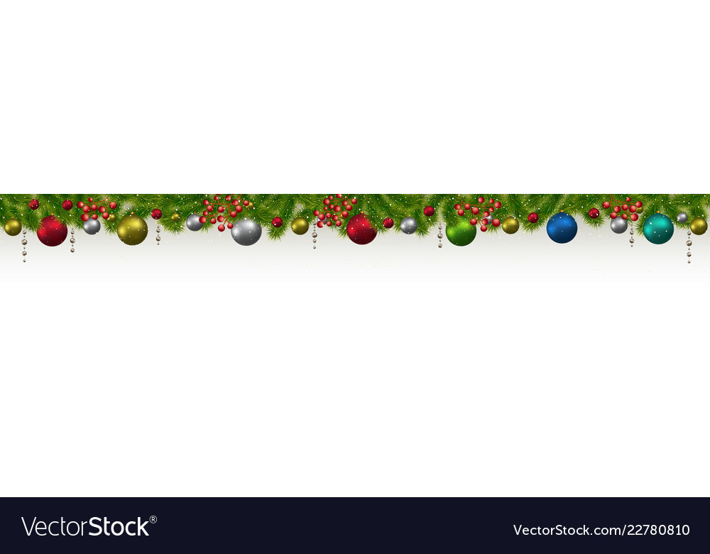 Christmas and new year banner with fir-trees