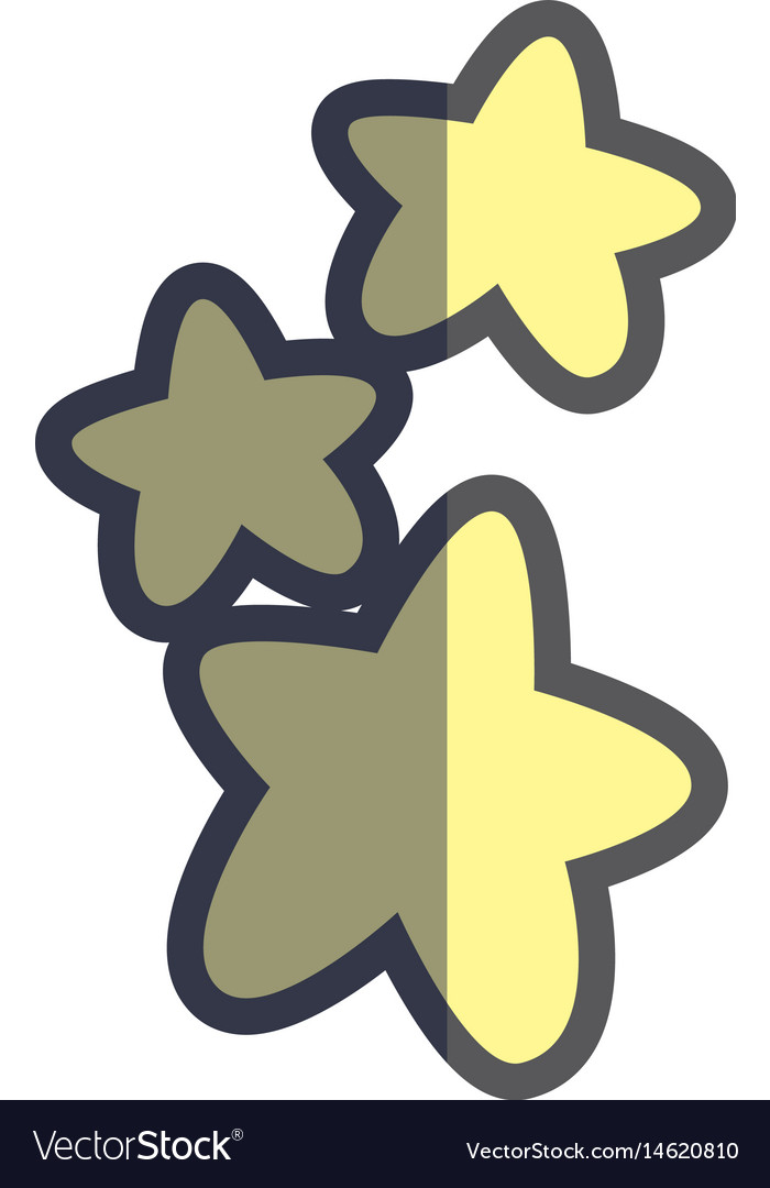 Cute light stars in the sky image vector image