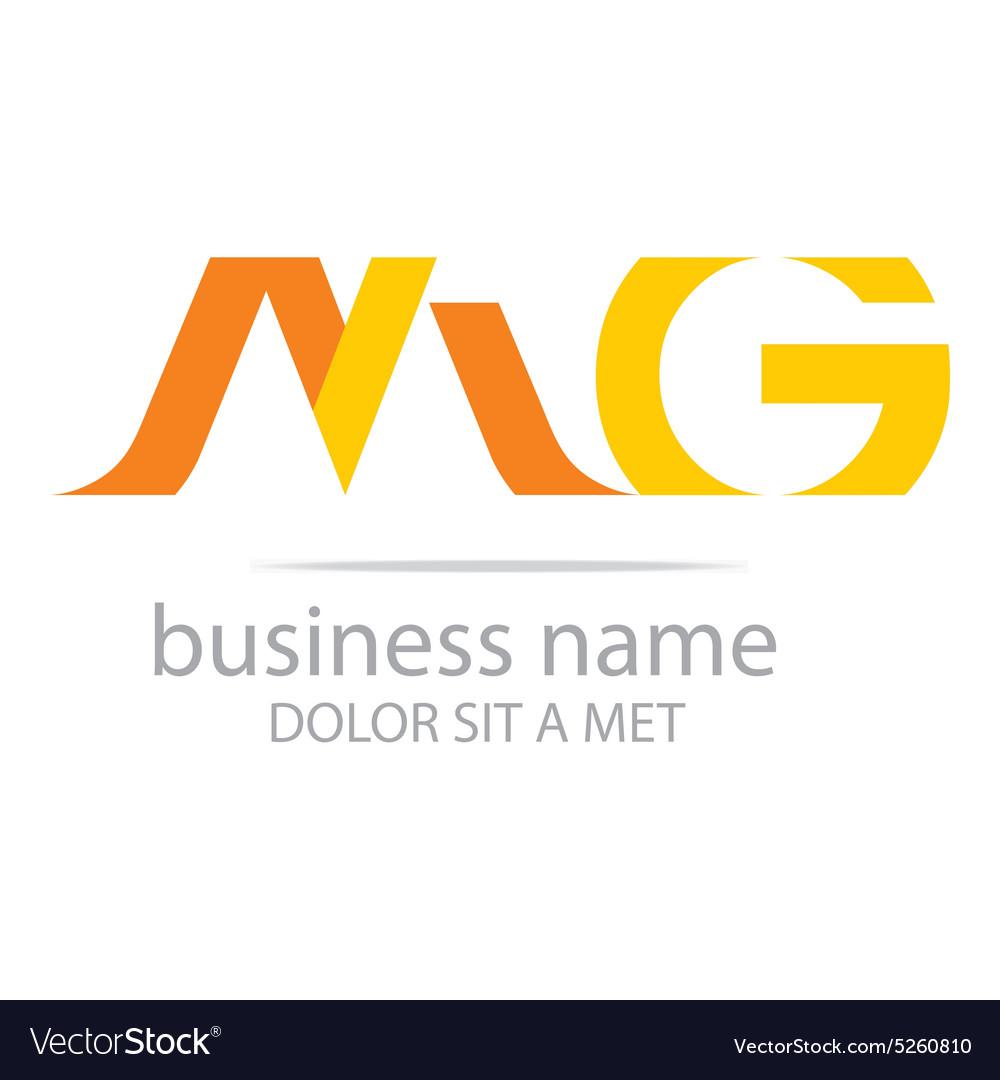 Letter m g alphabet element icon vector image