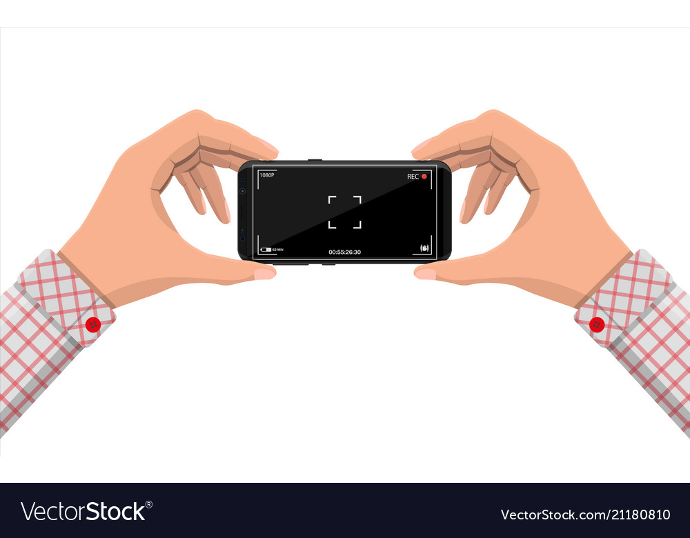 Modern smartphone with camera application