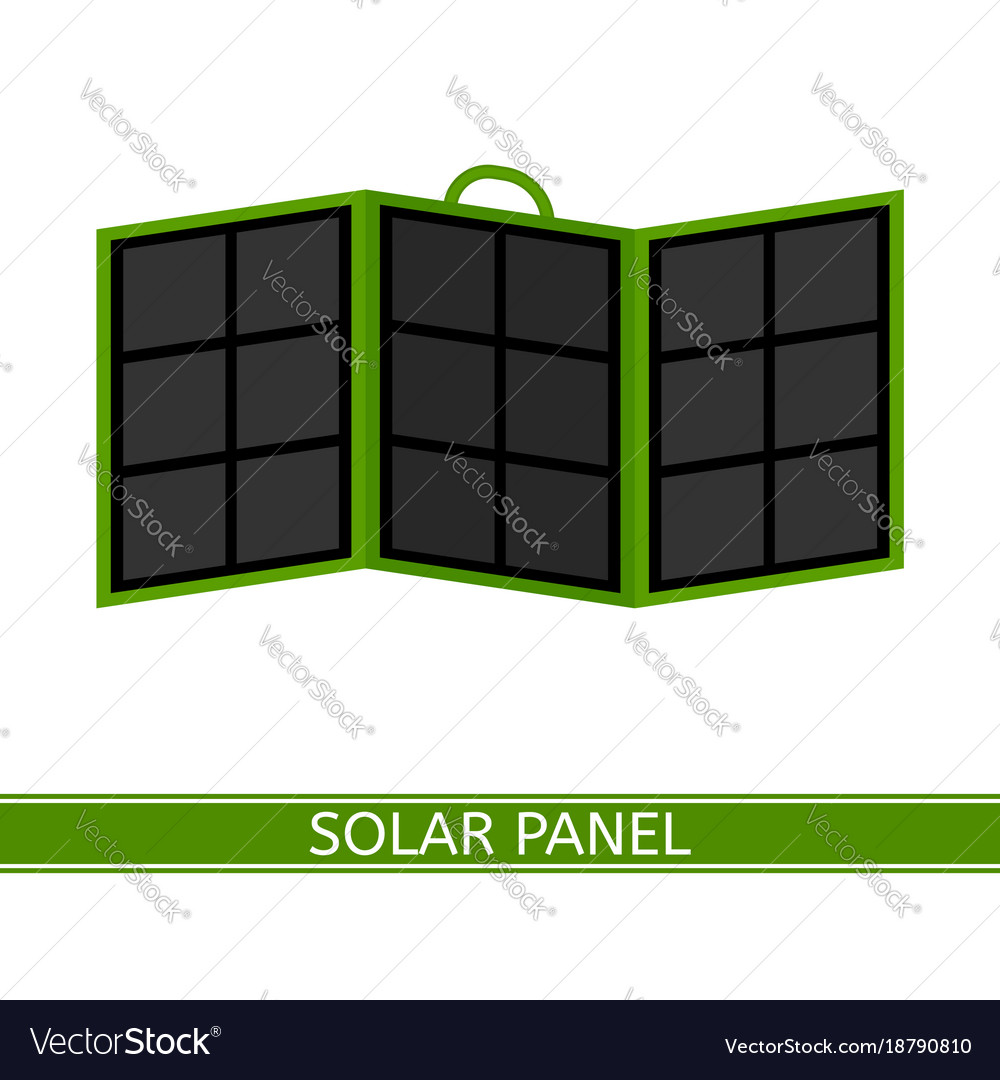 Portable solar panel isolated on white