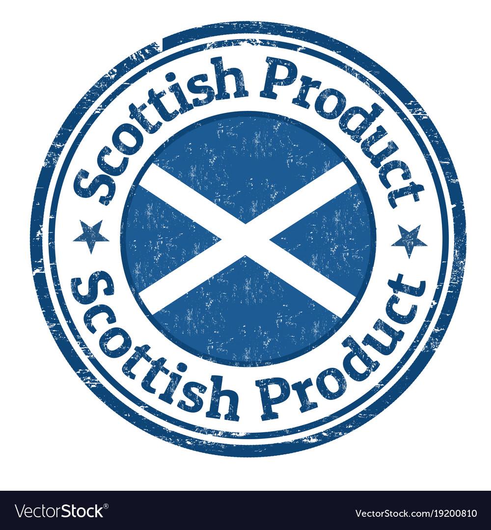 Scottish product grunge rubber stamp