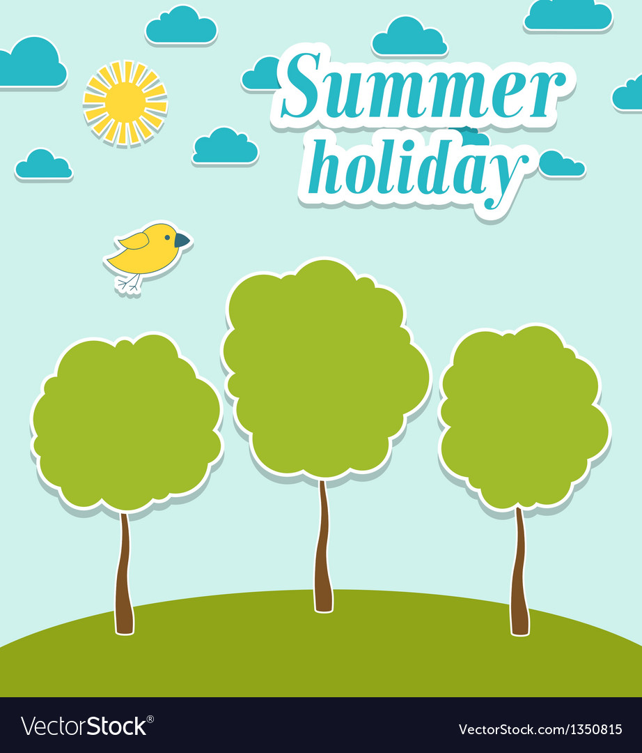 Abstract summer paper background with trees