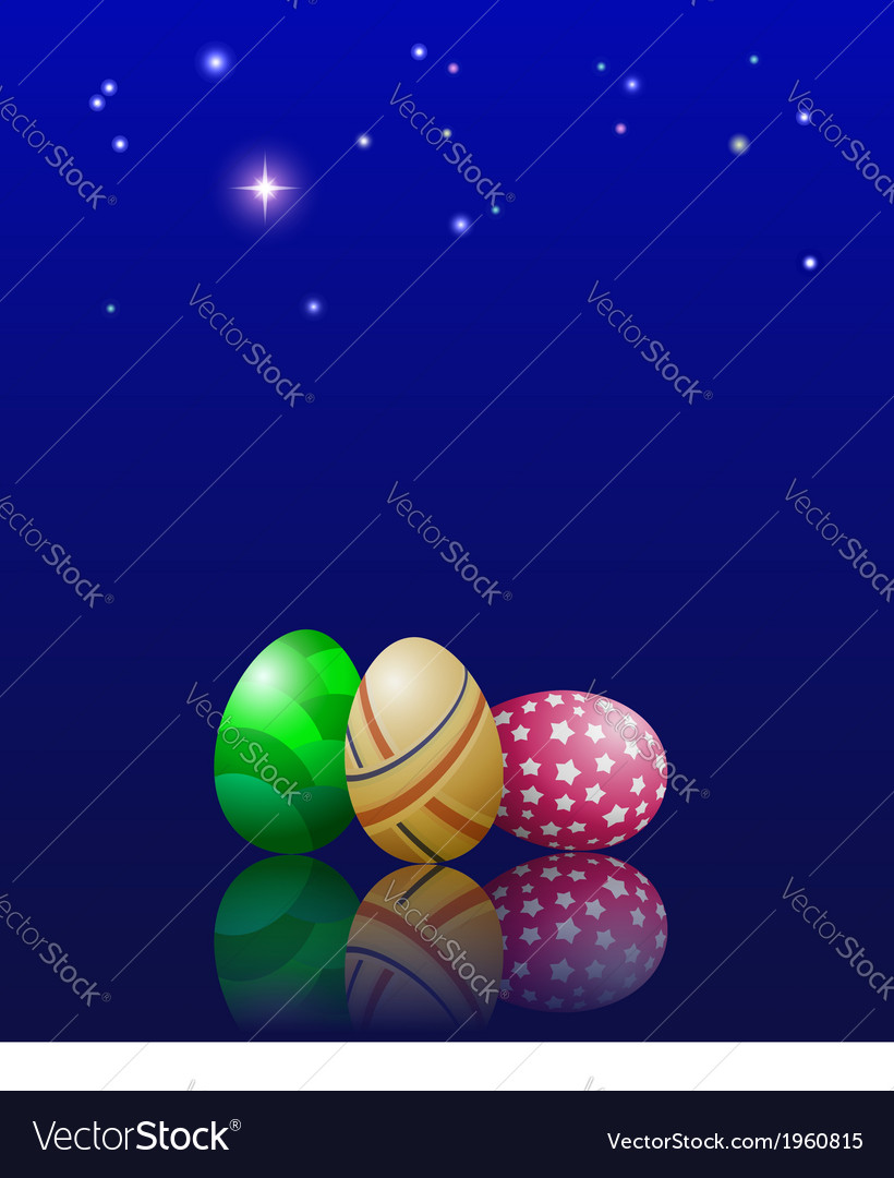 Easter eggs and stars