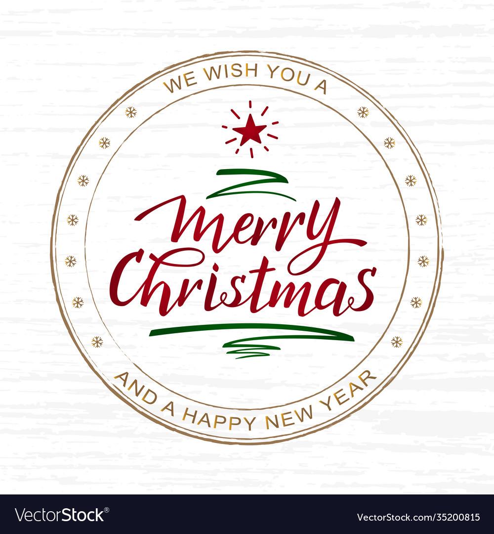 Handwritten merry christmas and happy new year