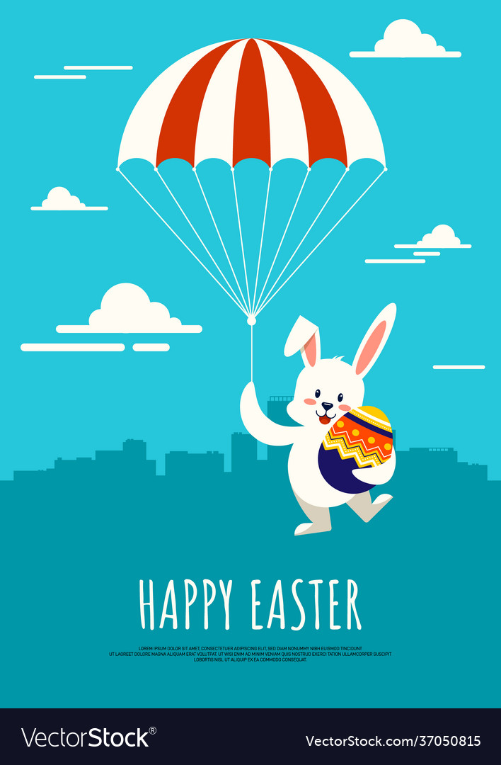 Happy easter day background decorative with