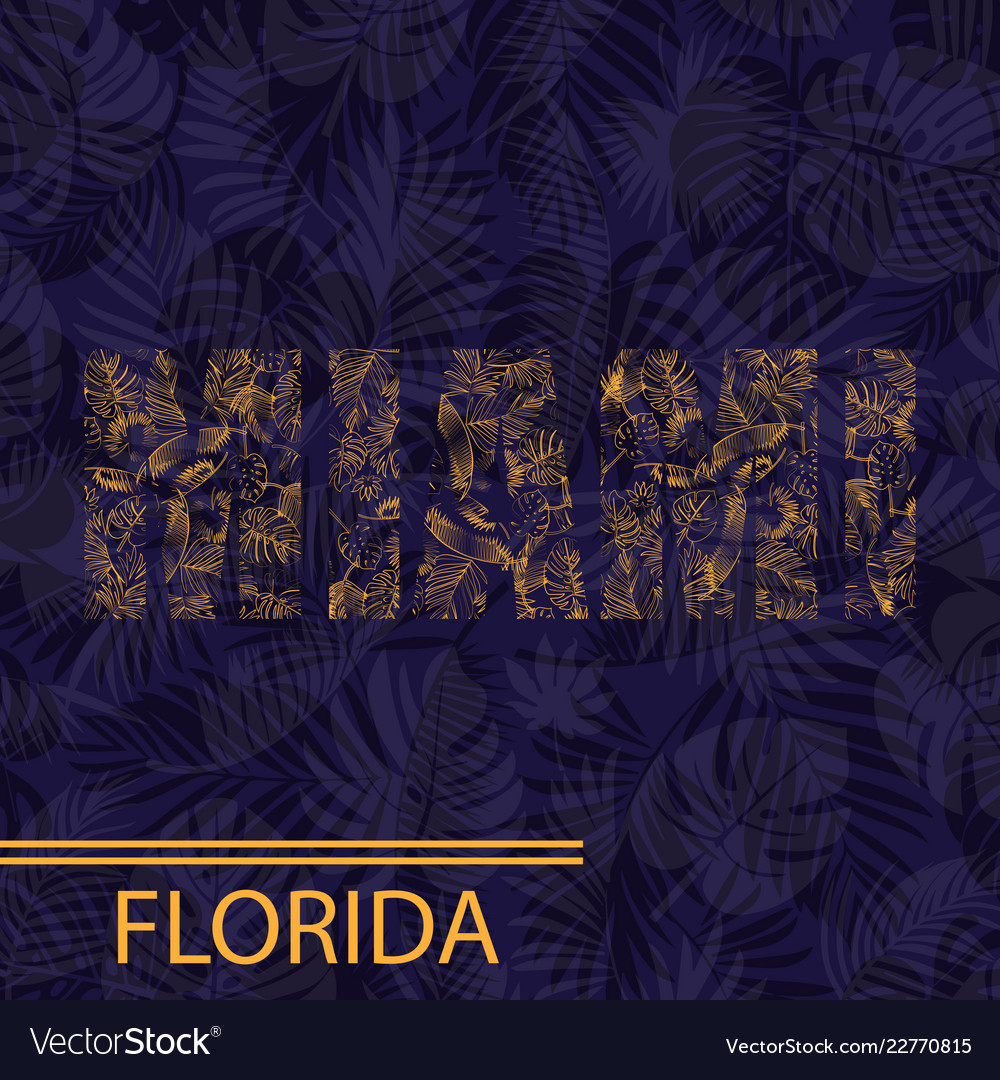 Miami palm leaves background