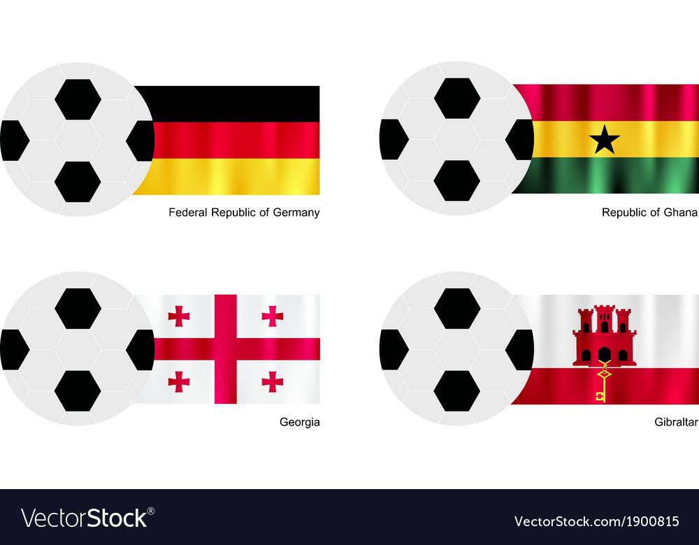 Soccer Ball with Germany Ghana Georgia and Gibra