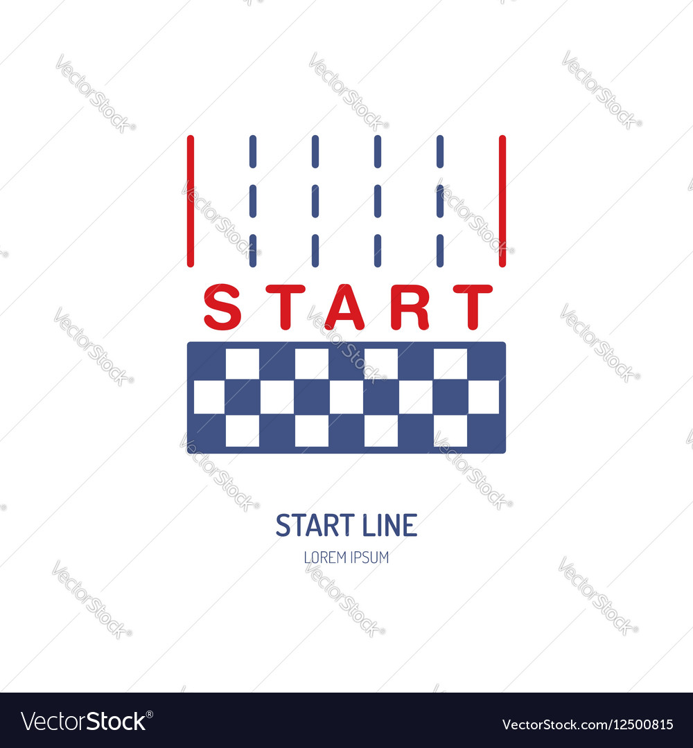 Start line linear icon Speed automobile vector image