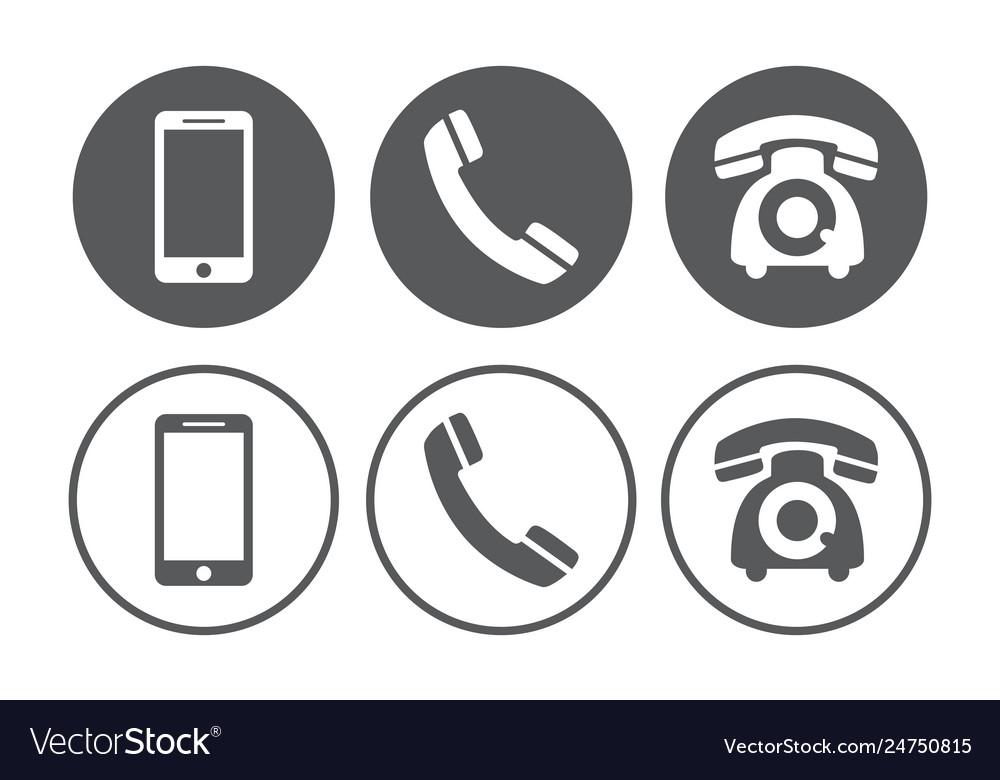 Telephone icons set