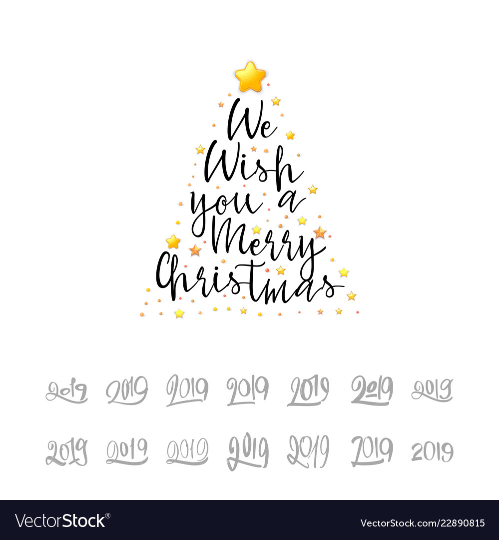 We wish you a merry christmas festive banner on a Vector Image