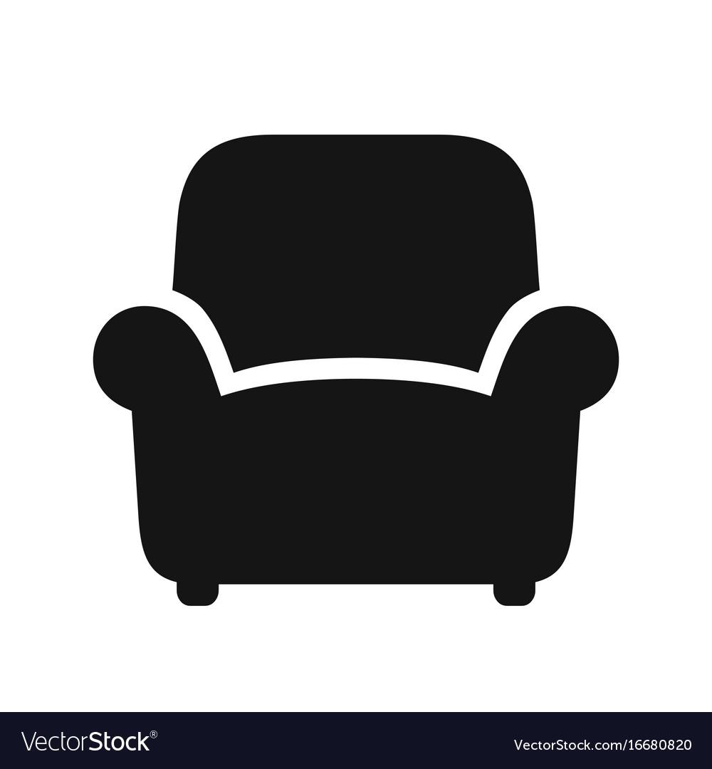 Armchair black icon