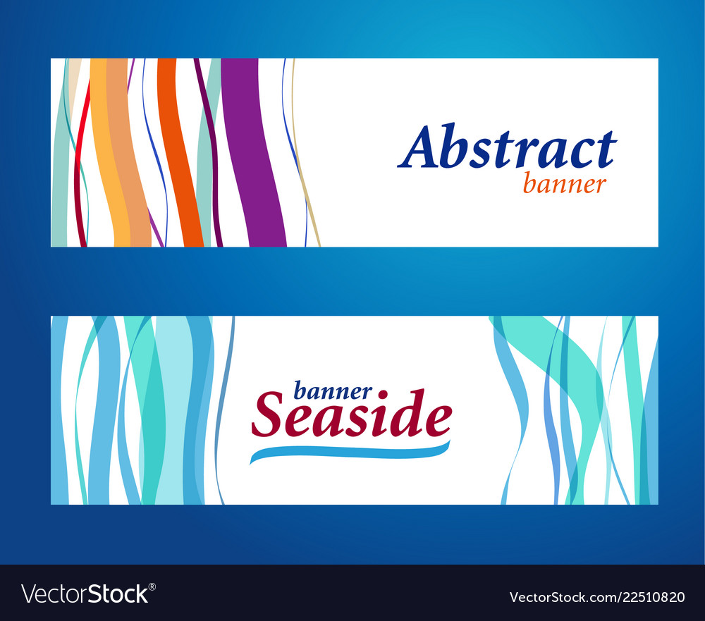 Bright abstract background waves on blue