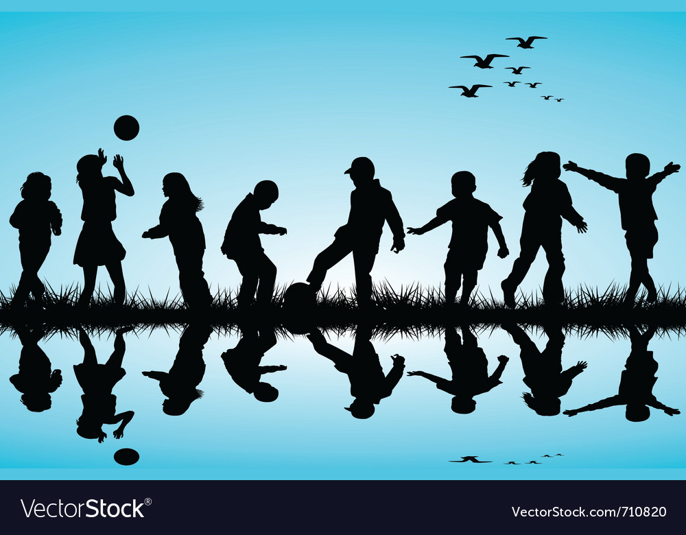 Children playing vector image