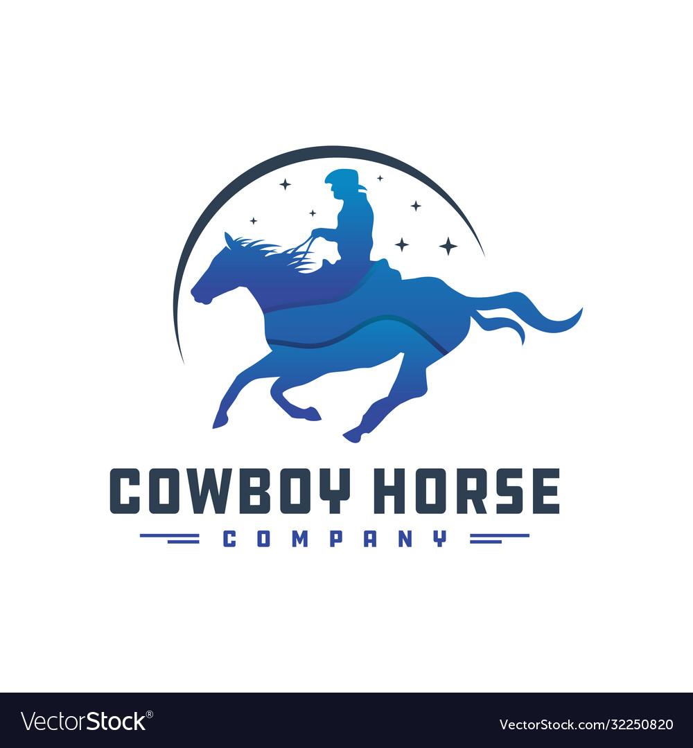 Cowboy rider logo design