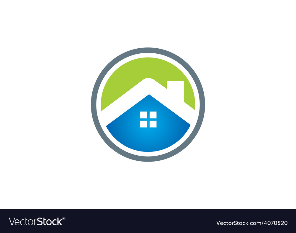 Home roof business construction icon logo