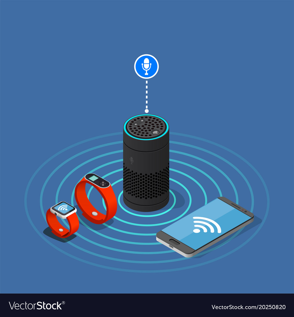 Internet of things isometric composition