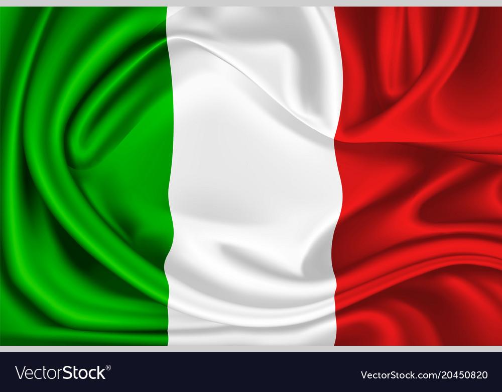 Mexico italy flag realistic silk drape