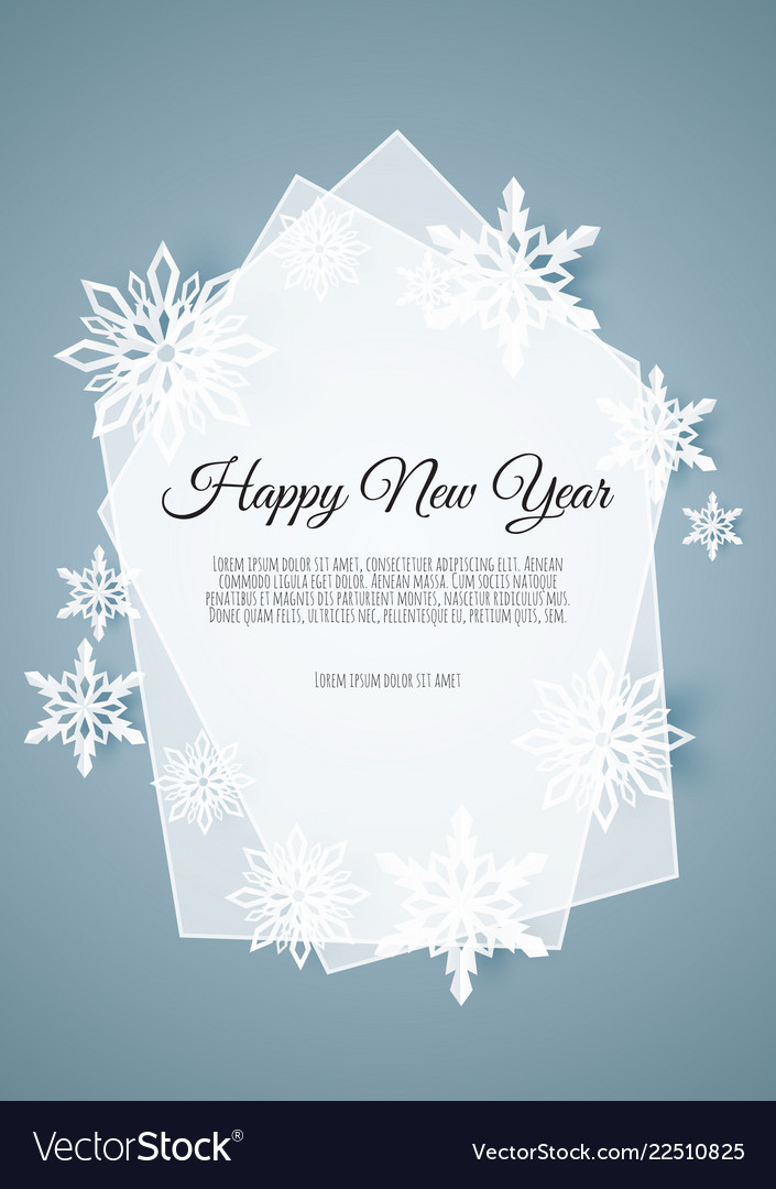 Abstract winter design with snowflakes and space
