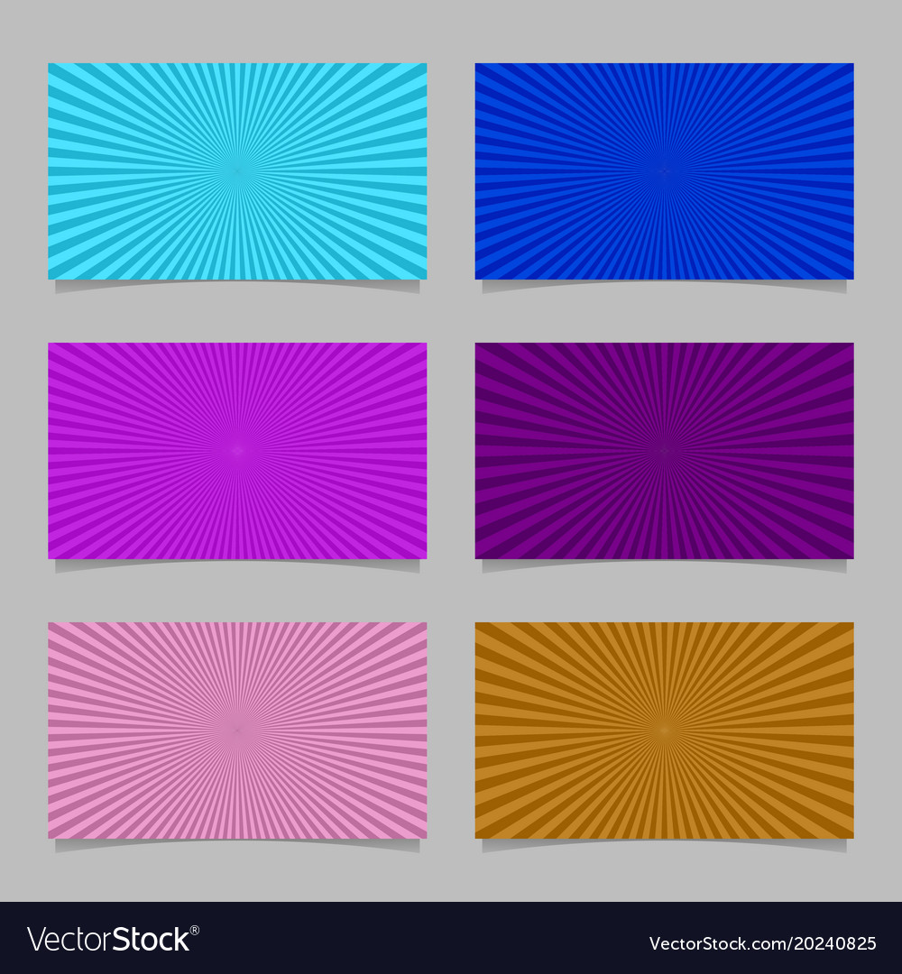 Colored abstract ray burst card background