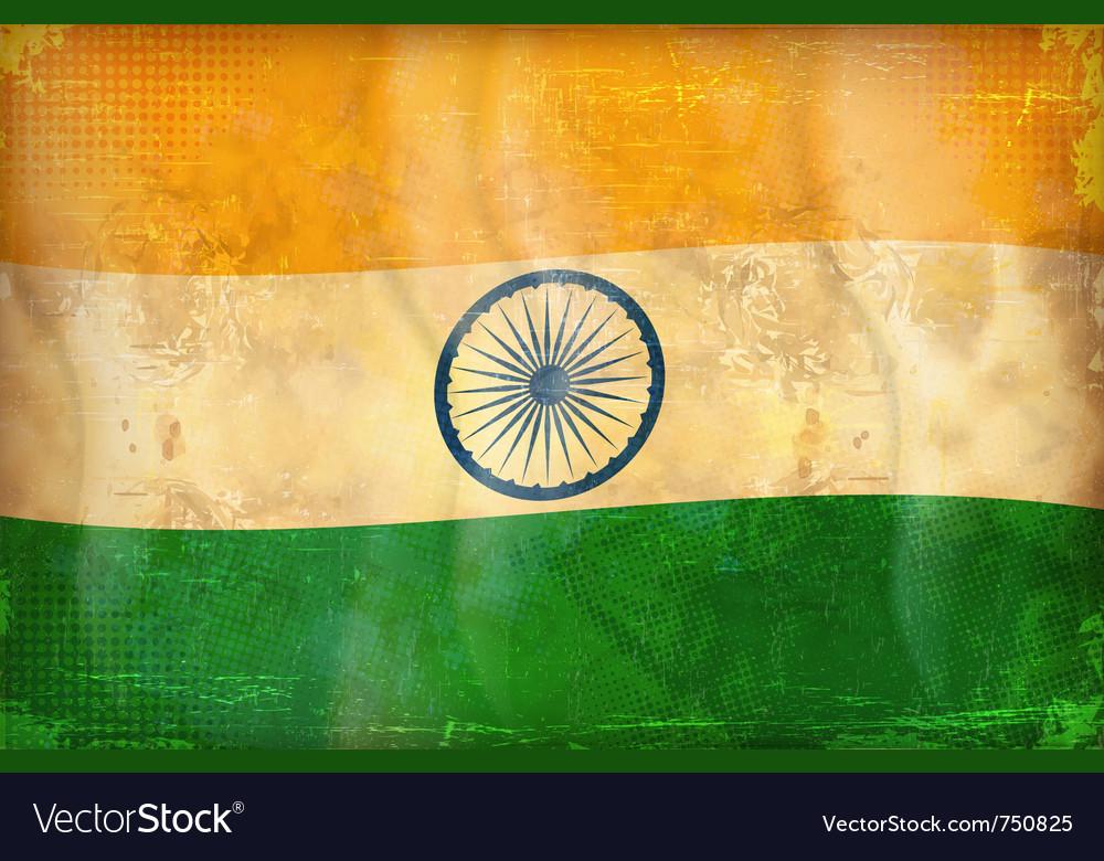 Grunge flag - india vector image