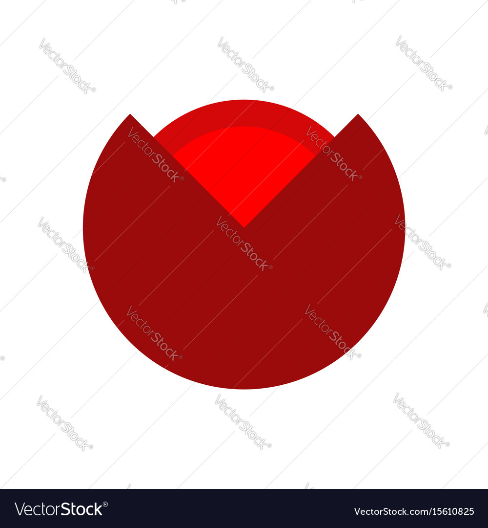 Poppy red flower isolated flowers emblem logo