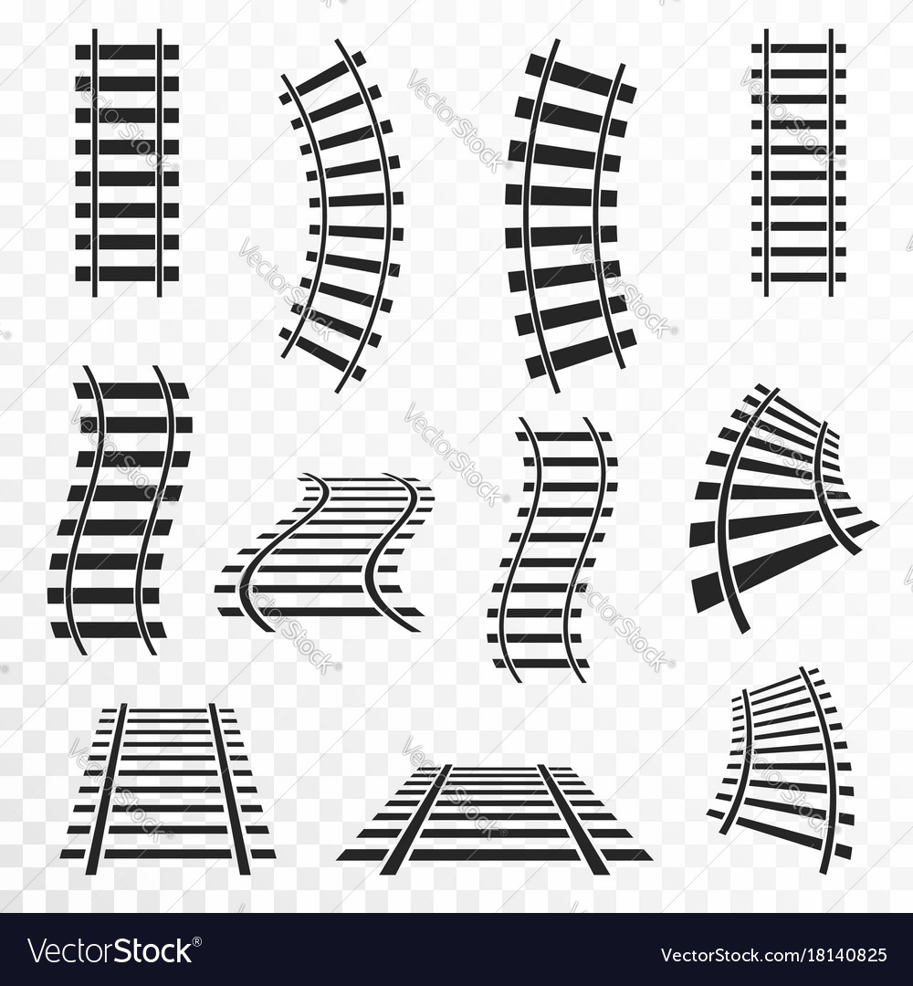 Rails set on transparent background straight and