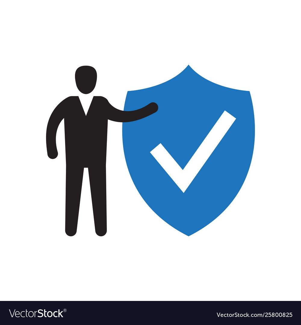 Shield and check mark icon
