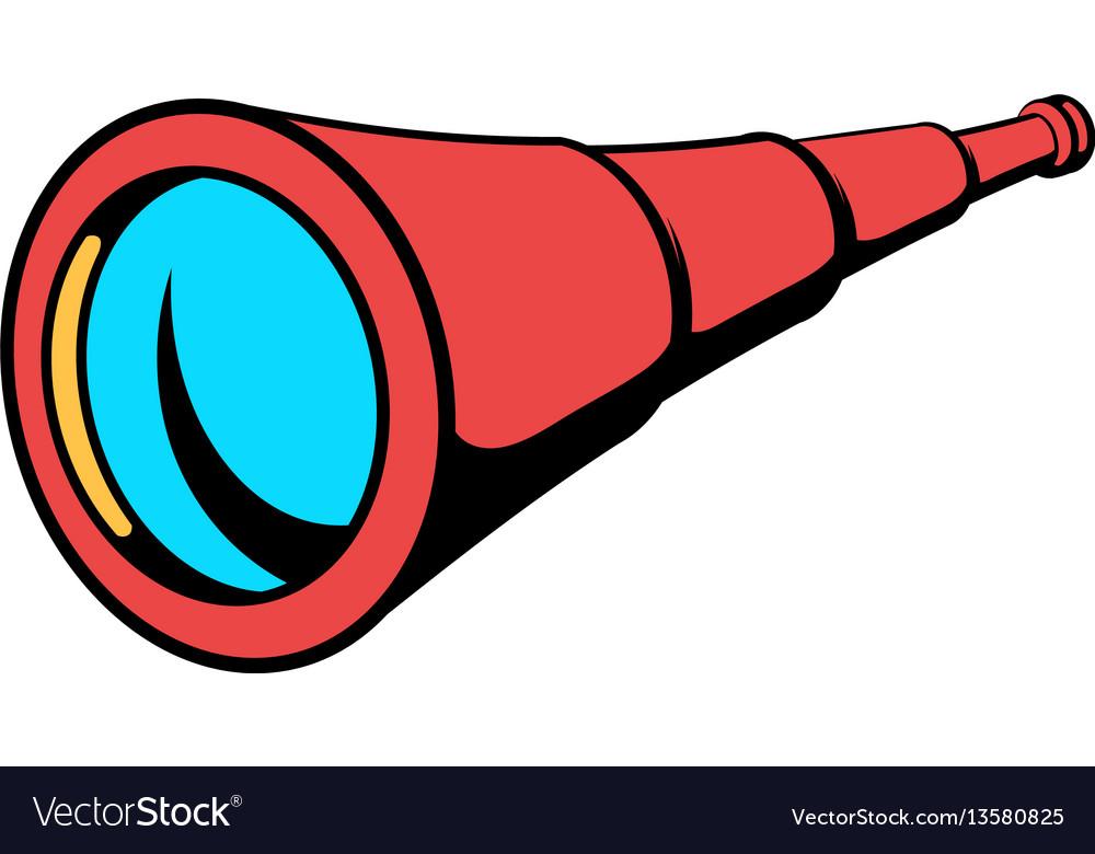 Spyglass icon in icon cartoon vector image