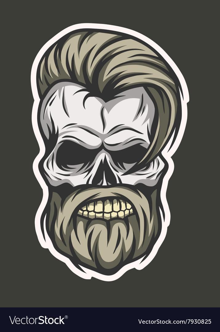 stylish hipster skull line art style royalty free vector