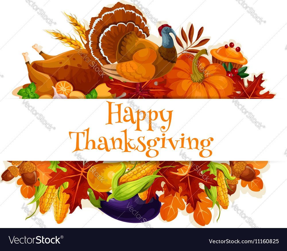 Thanksgiving autumn harvest decoration banner