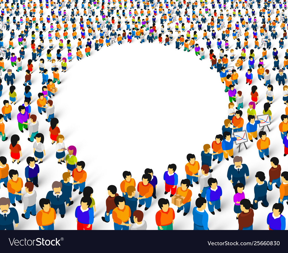 A group people shaped as a chat icon isolated