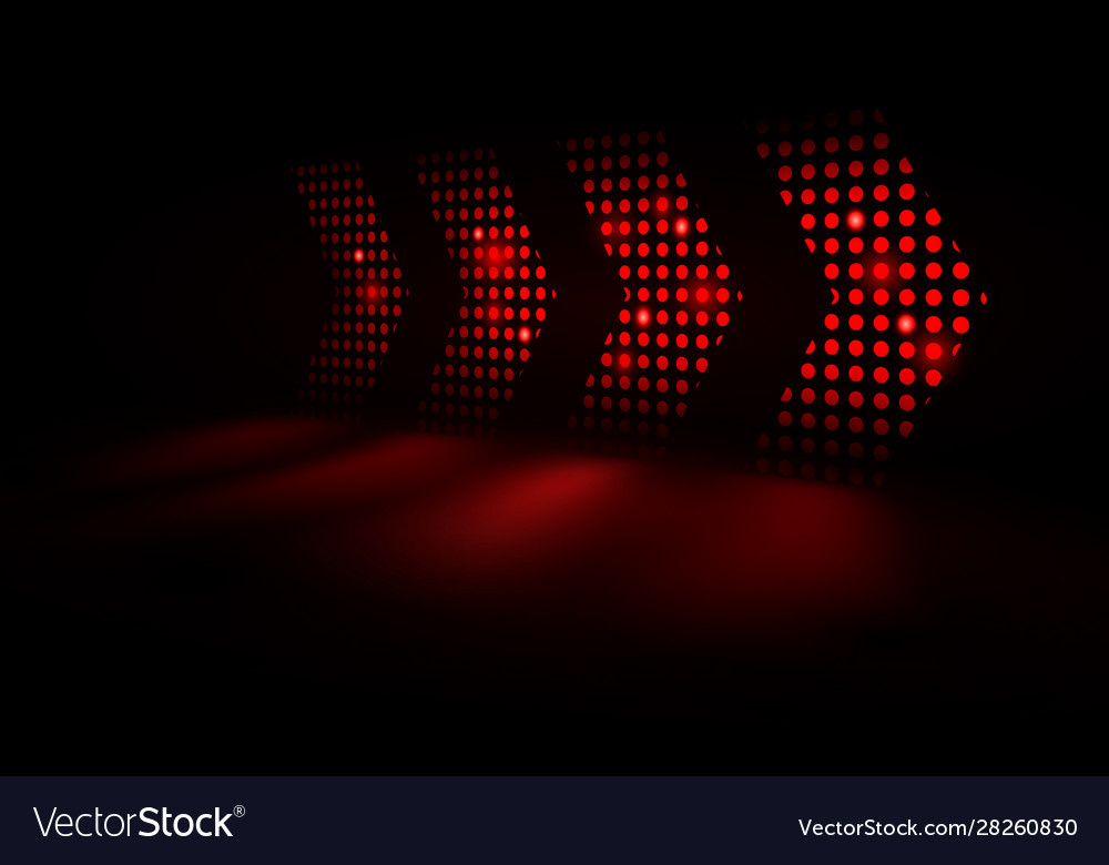 Abstract red light arrows speed background