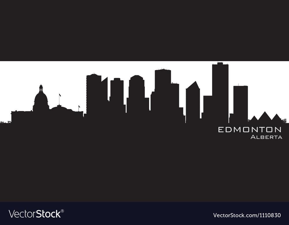 Edmonton Canada skyline Detailed silhouette