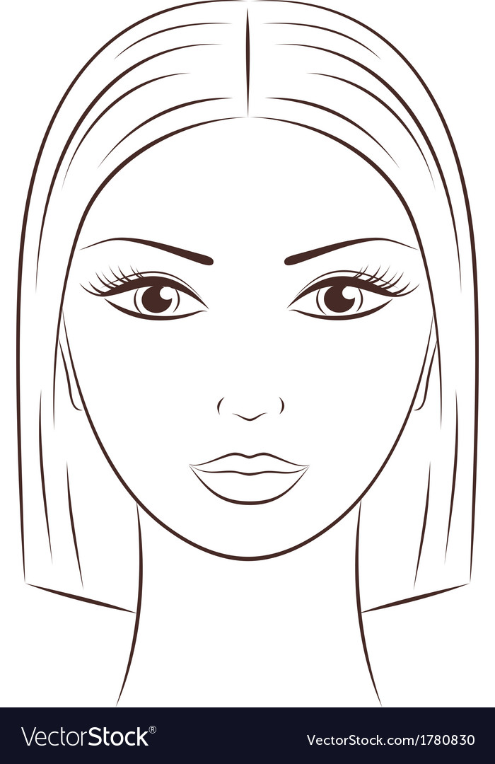 female face royalty free vector image vectorstock rh vectorstock com face vectors merge face vectors merge