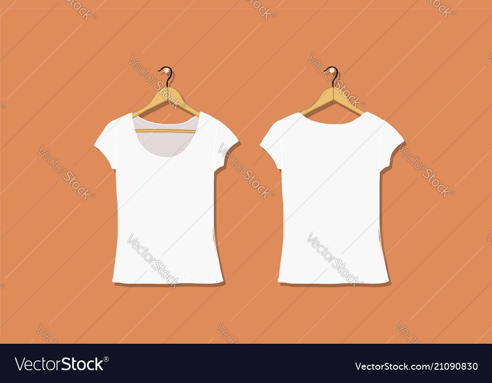 white female t shirt
