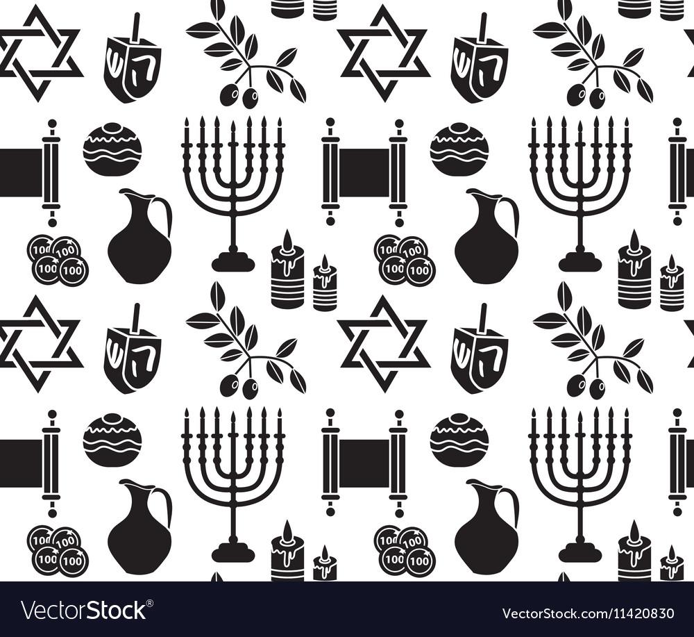 Hanukkah symbol seamless pattern Hanukkah