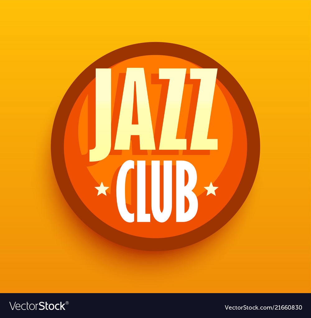 Jazz club - logo for music cafe bar style sigh