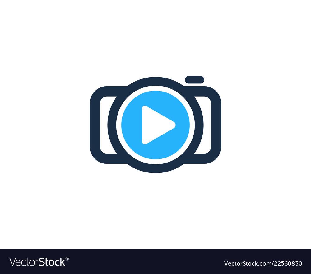 Media camera logo icon design