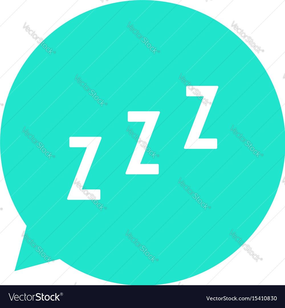 Snoring sign in green speech bubble